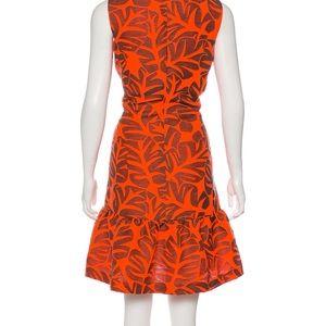 Akris Punto orange midi dress